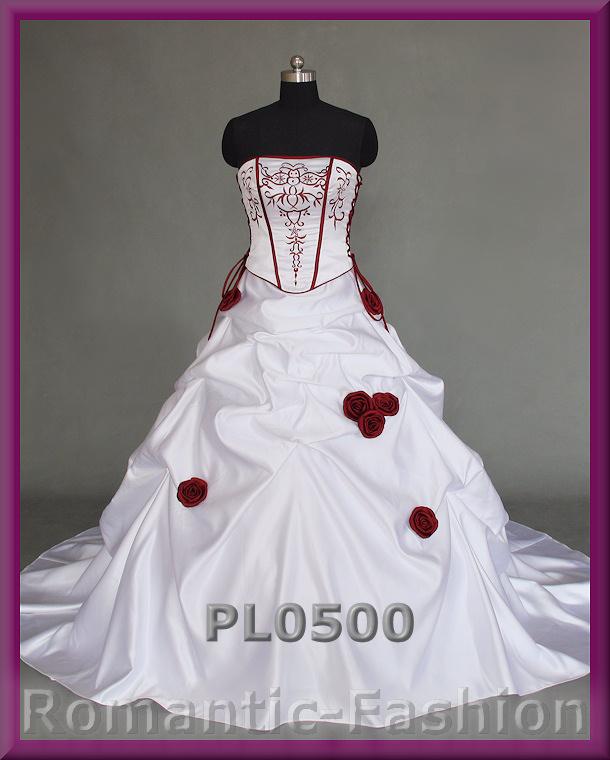 ♥Zweifarbiges Brautkleid Maßanfertigung alle Größen Weiß oder Creme ...