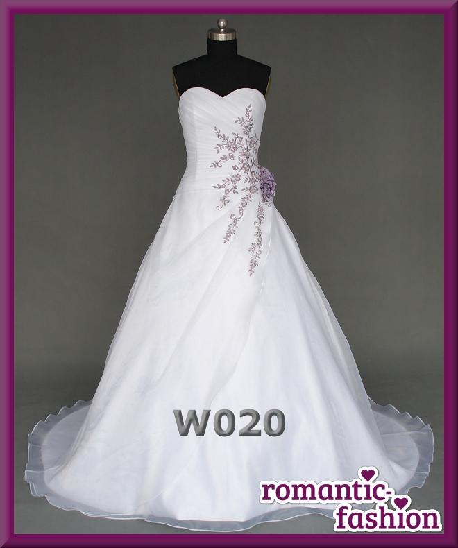 ♥NEU: Größe 34-54 Brautkleid, Hochzeitskleid in Weiß und Lila+NEU+ ...