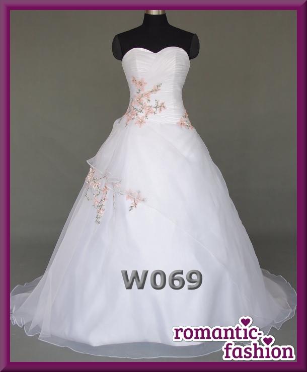 ♥NEU: Größe 34-54 Brautkleid, Hochzeitskleid Weiß mit Rosa+NEU+ ...